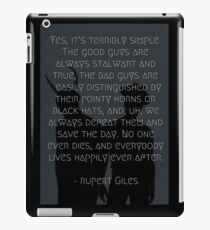 Stalwart and True - Rupert Giles iPad Case/Skin