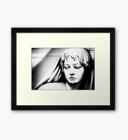 Lady in b&w Framed Print