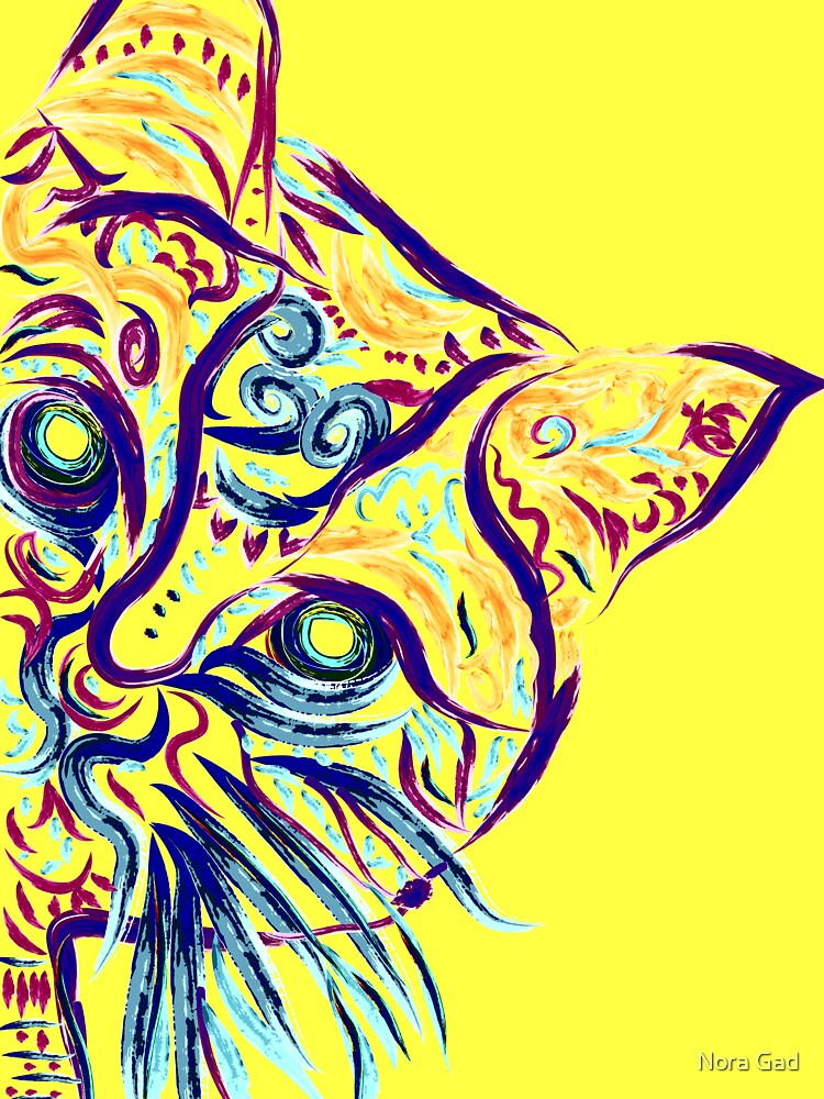 Tatuaje de gato amarillo de NoraMohammed