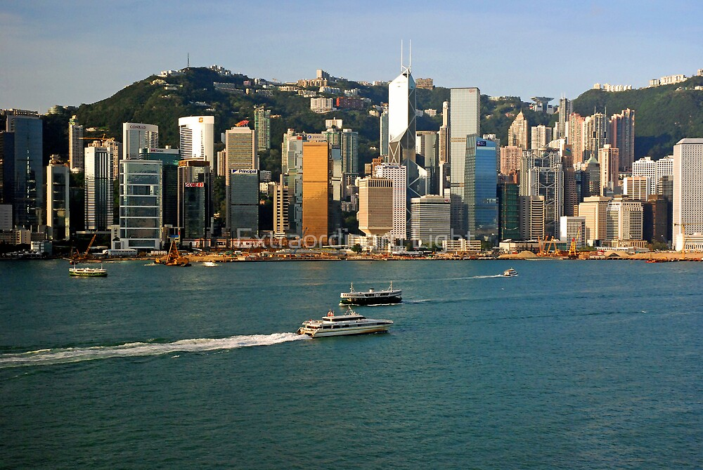 Hong Kong skyline on a clear day by Extraordinary Light