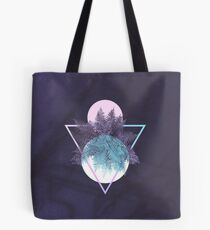 Moon Fern on Geometry and Marble #minimal #homedecor #foliage Tote Bag