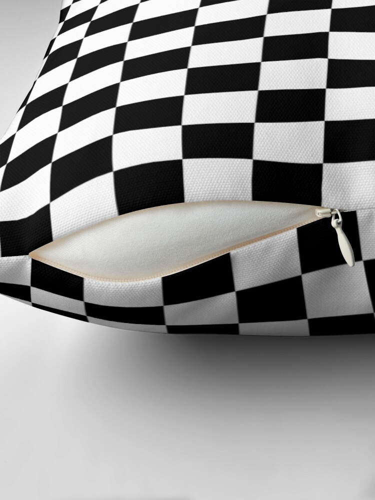 Checkered Racing Car Flag Pillow And Cushion Cover Throw Pillow By Stickersandtees Redbubble