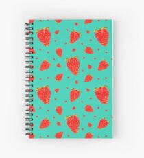 Strawberries by Maive Ferrando Spiral Notebook