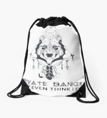 PRIVATE BANKER Drawstring Bag