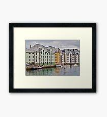 By the Water, Alesund, Norway Framed Print