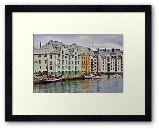 By the Water, Alesund, Norway by Gerda Grice