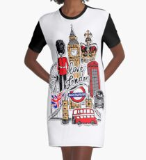 London city symbol Graphic T-Shirt Dress