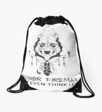 SENIOR FIREMAN Drawstring Bag