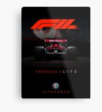 F1 2018 Alfa Romeo FanArt Metal Print