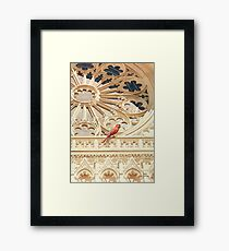 """The Cardinal"" Watercolor Framed Print"