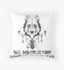SKI INSTRUCTOR Throw Pillow