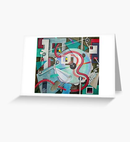 Abstract with Disc Greeting Card