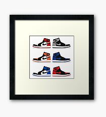 Jordan 1 Collection Framed Print