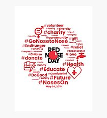 Red Nose Day (Red Text) Photographic Print