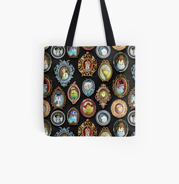 Budgies in Hats All Over Print Tote Bag