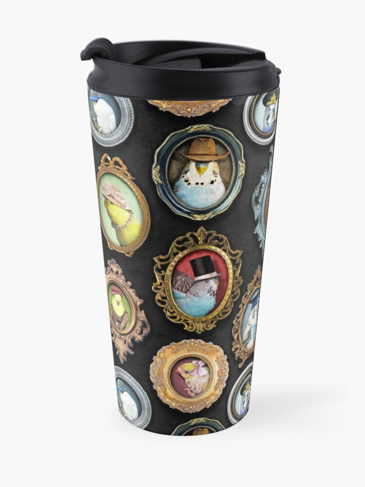 Alternate view of Budgies in Hats Travel Mug