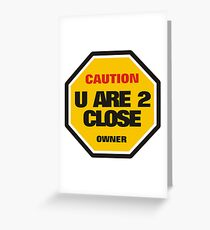 Traffic Sign Greeting Card