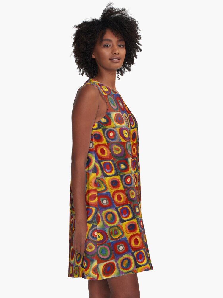 Alternate view of Wassily Kandinsky, Colour Study, Squares with Concentric Circles. A-Line Dress