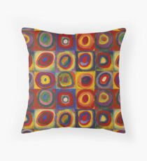 Wassily Kandinsky, Colour Study: Squares with Concentric Circles  Floor Pillow