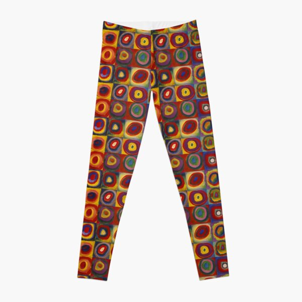Wassily Kandinsky, Colour Study, Squares with Concentric Circles. Leggings