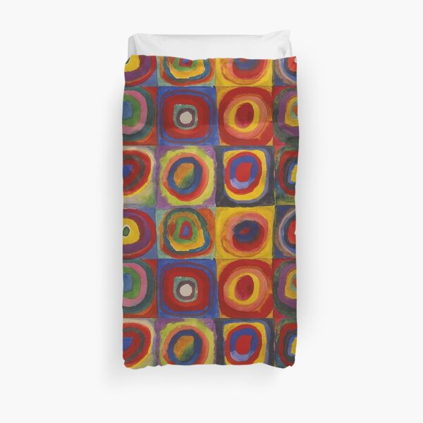 Wassily Kandinsky, Colour Study, Squares with Concentric Circles. Duvet Cover