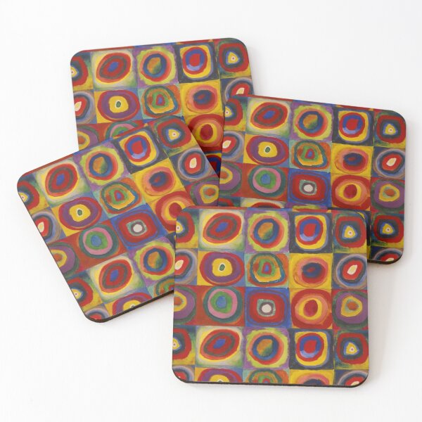 Wassily Kandinsky, Colour Study, Squares with Concentric Circles. Coasters (Set of 4)