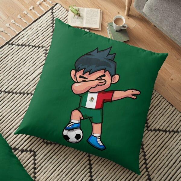 Soccer Boy Dabbing Mexico Floor Pillow