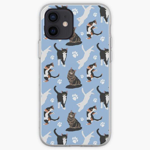 Cat pattern iPhone Soft Case