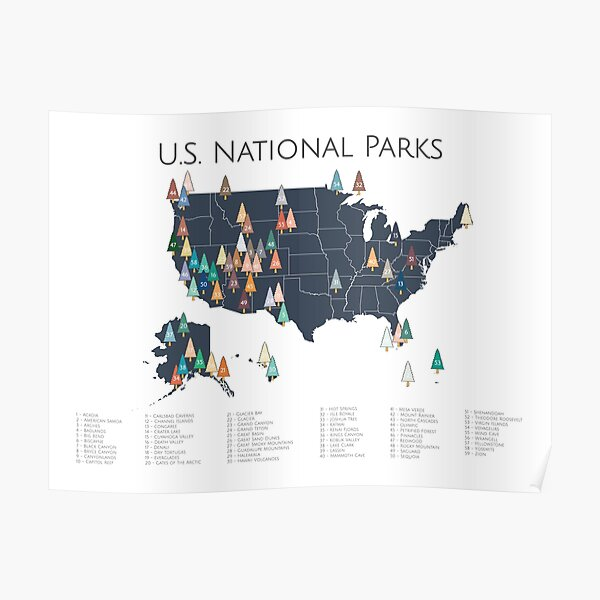 National Park Posters Redbubble