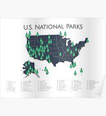 Nationalpark-Explorer-Karte Poster