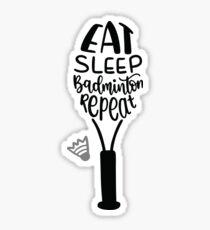 East Sleep Badminton Repeat Sticker