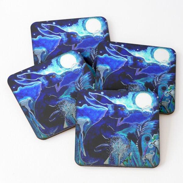 Moon Hare Coasters (Set of 4)