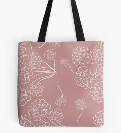 White Dahlias Tote Bag