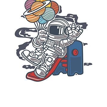 Astronaut Sliding in Space by mishodja