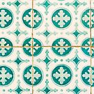 Green Lucky Charm Lisbon Tiles by for91days