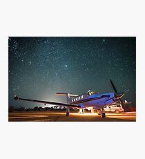 RFDS Evac Under a Starry Southern Sky - Tjuntjuntjara, Great Victoria Desert, WA - Take 1 Photographic Print