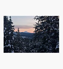 Mount McLoughlin, Crater Lake National Park, Oregon Photographic Print