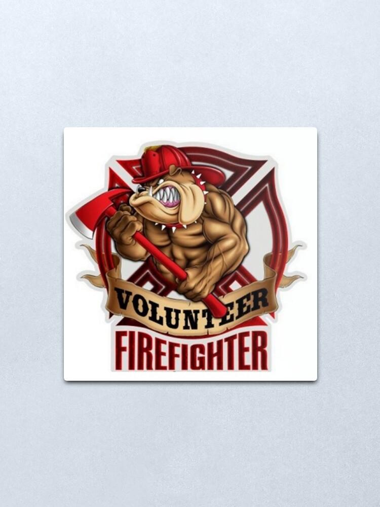 Alternate view of Volunteer FireFighter Bulldog Metal Print