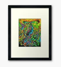 Narwhal 10,000 Leagues in Deep Space Framed Print
