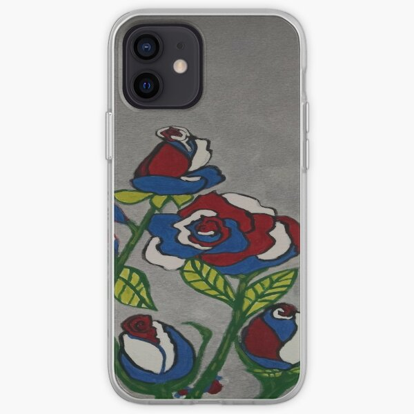 Red White and Blue Roses iPhone Soft Case