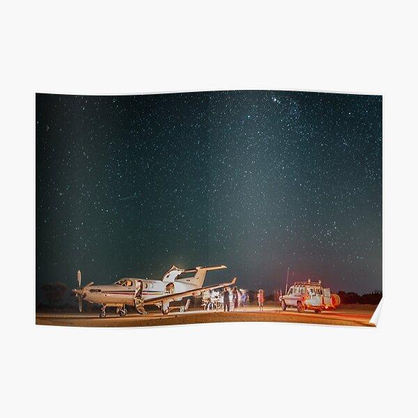 RFDS Evac Under a Starry Southern Sky - Tjuntjuntjara, Great Victoria Desert, WA - Take 2 Poster