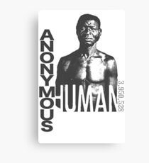 ANONYMOUS HUMAN 001 - Slavery Canvas Print
