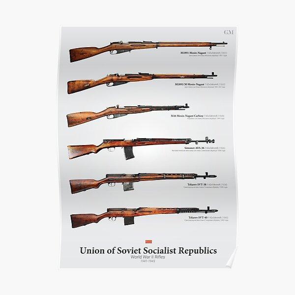World War II Rifles of the Soviet Union Poster
