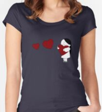 Catana Hearts Women's Fitted Scoop T-Shirt