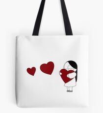 Catana Hearts Tote Bag