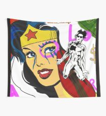 Basquiat red babylon spirit Wall Tapestry