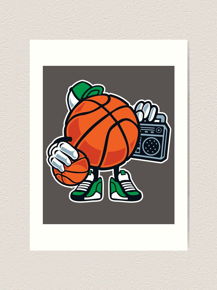 Funny Basketball Cartoon Street Baller Game Gift T Shirt For Kids Art Print By Culturesociety Redbubble