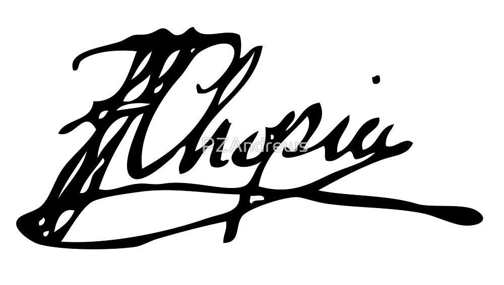 Frédéric Chopin signature by PZAndrews