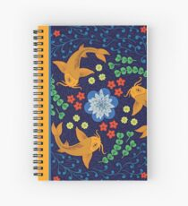 Blue Koi Pond Spiral Notebook