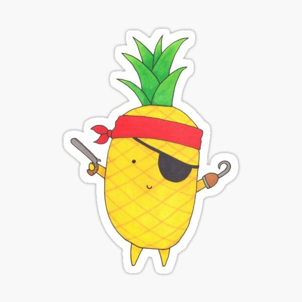Pineapple Pirate Sticker